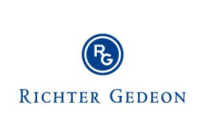 A Richter Gedeon Nyrt. kétsoros logója